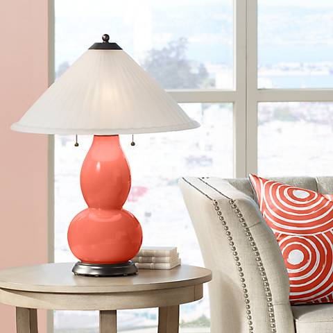 Koi Fulton Table Lamp with Fluted Glass Shade