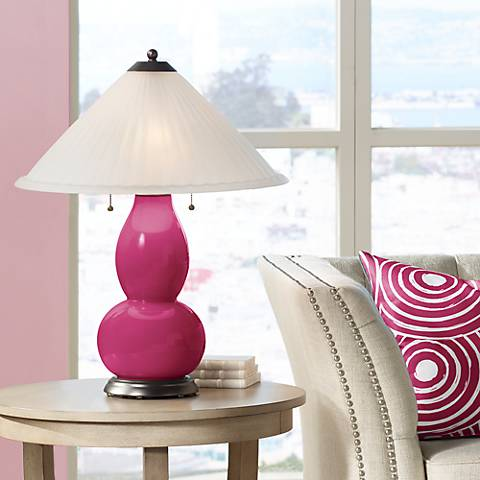 Vivacious Fulton Table Lamp with Fluted Glass Shade