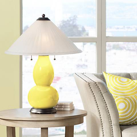 Lemon Twist Fulton Table Lamp with Fluted Glass Shade