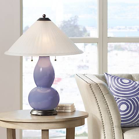 Purple Haze Fulton Table Lamp with Fluted Glass Shade