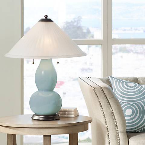 Aqua-Sphere Fulton Table Lamp with Fluted Glass Shade