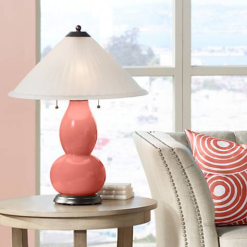 Coral Reef Fulton Table Lamp with Fluted Glass Shade
