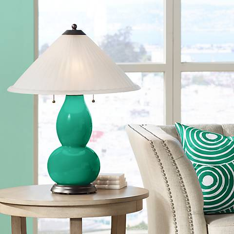 Leaf Fulton Table Lamp with Fluted Glass Shade