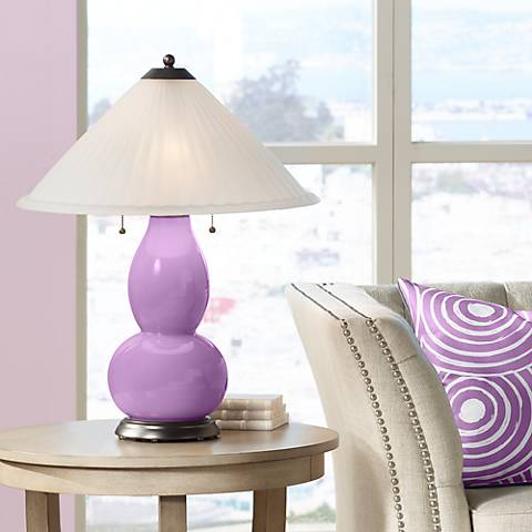 African Violet Fulton Table Lamp with Fluted Glass Shade