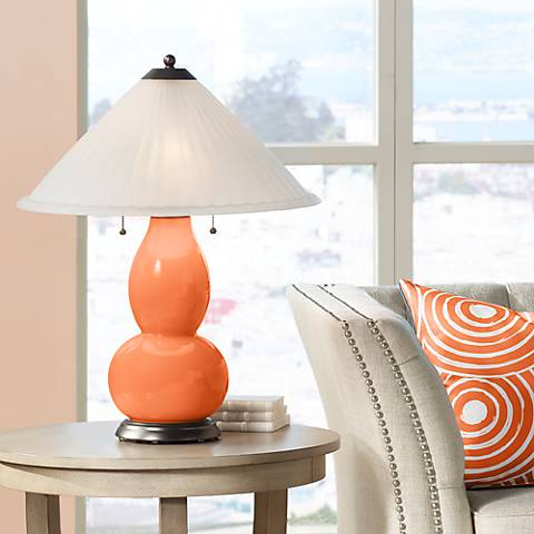 Nectarine Fulton Table Lamp with Fluted Glass Shade