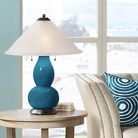 Oceanside Fulton Table Lamp with Fluted Glass Shade