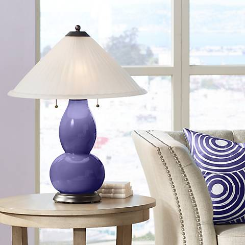 Valiant Violet Fulton Table Lamp with Fluted Glass Shade