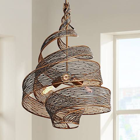 "Varaluz Flow 18"" Wide Hammered Ore Pendant Light"