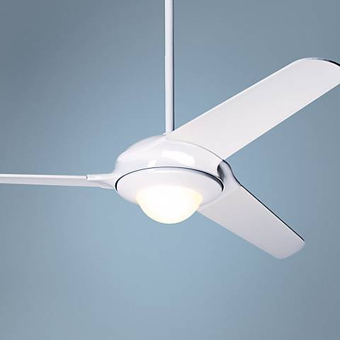 "52"" Modern Fan Flow Gloss White Ceiling Fan"