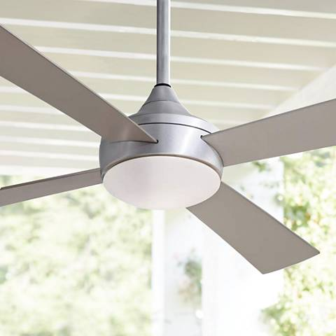 "52"" Minka Aire Aluma Wet Brushed Aluminum Ceiling Fan 6C512"