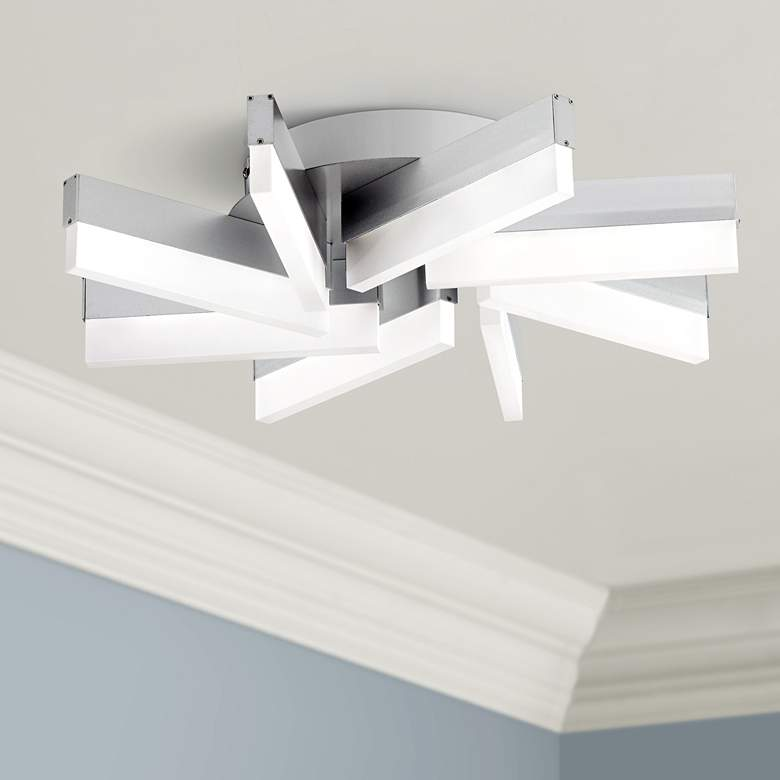 "Spirelli 19"" Wide Aluminum Modern LED Ceiling Light"