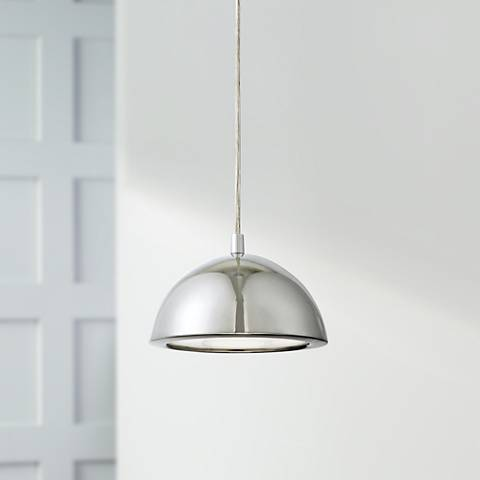 "Possini Euro Design Godori 6"" Wide LED Chrome Mini Pendant"