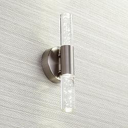 "Natalya Bubble Acrylic 13"" High Modern LED Wall Sconce"