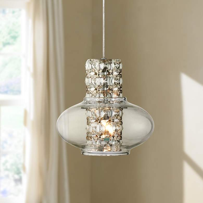 Possini Euro Vidrio 5 1 2 Wide Modern Crystal Mini Pendant