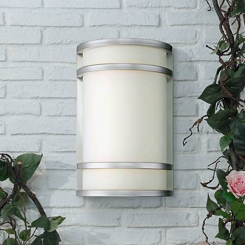 "Bay View 12"" High Stainless Steel Outdoor Wall Light"