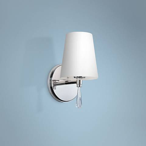 "Feiss Monica 9"" High Chrome Wall Sconce"