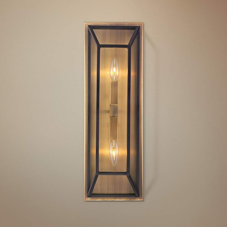 "Hinkley Fulton 22 1/2"" High Bronze 2-Light Wall"