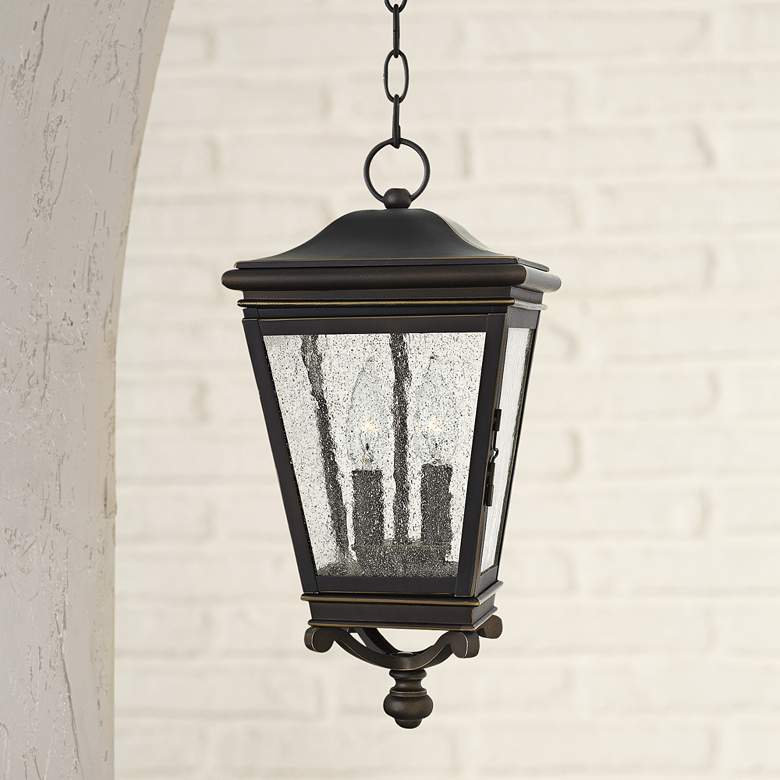 "Hinkley Lincoln 8 1/2"" Wide Bronze Outdoor Hanging"