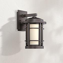 "Barrister 14 1/2"" High Bronze LED Outdoor Wall Light"
