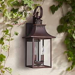"Quoizel Chancellor 19"" High Copper Bronze Outdoor Wall Light"