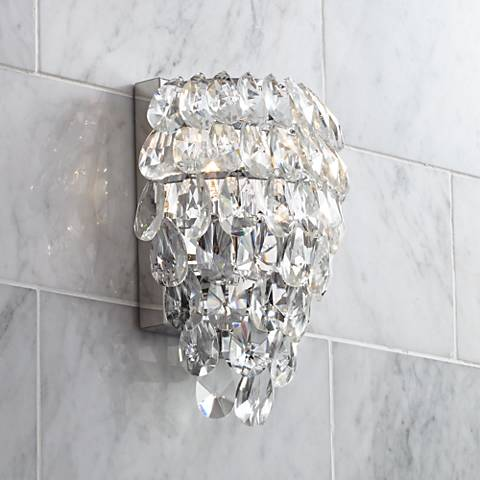 "Carriere 9 3/4"" High Crystal Wall Sconce"