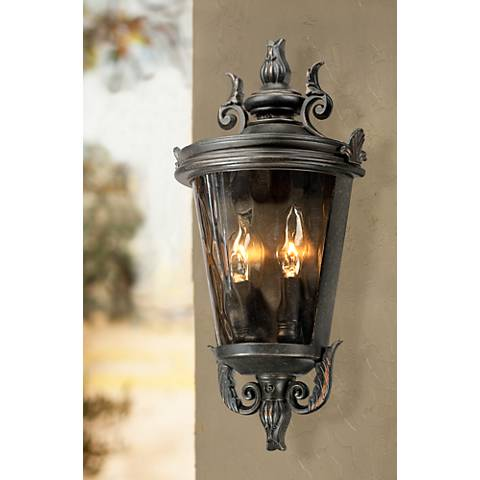 "Casa Marseille 17"" High Veranda Bronze Outdoor Wall Light"