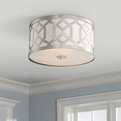"Crystorama Jennings 16 1/4"" Wide Nickel Ceiling Light"