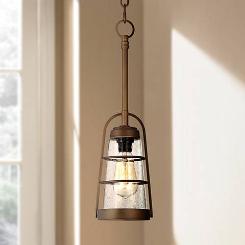 "Averill Park 5 1/4"" Wide Bronze Mini-Pendant Light"