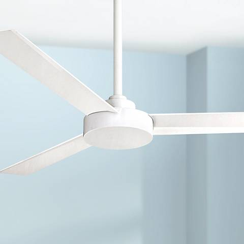 "52"" Minka Aire Roto Flat White Ceiling Fan by Lamps Plus"
