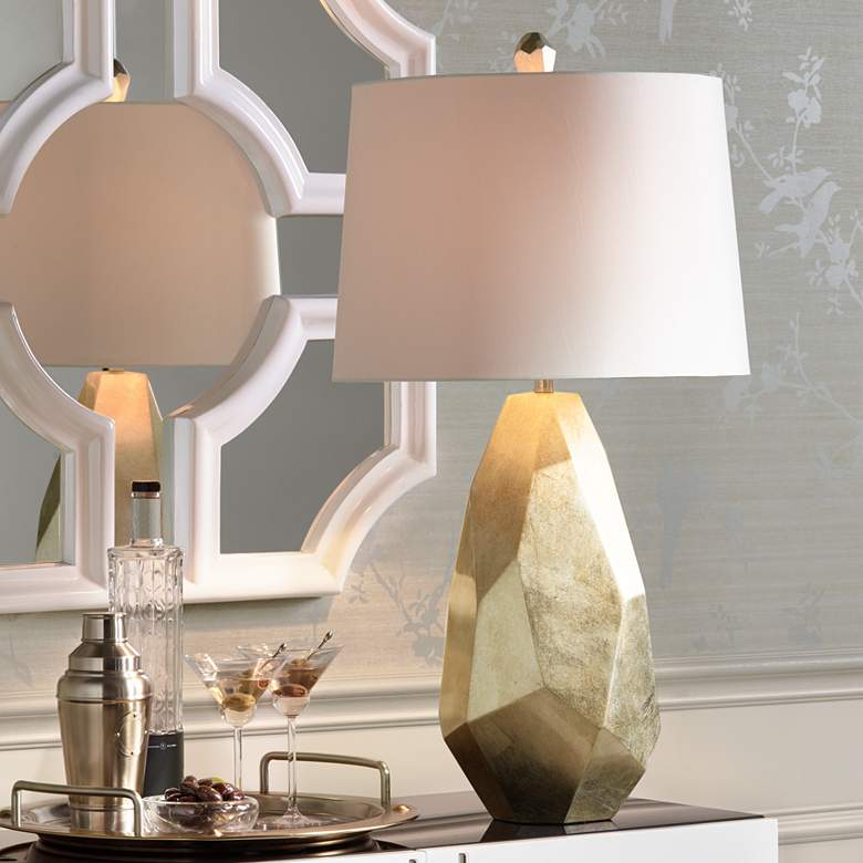 Avizza Faceted Champagne Table Lamp