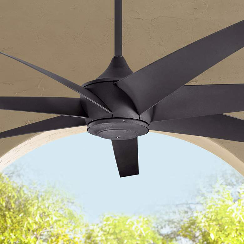 "80"" Kichler Lehr Climates Black Outdoor Ceiling Fan"