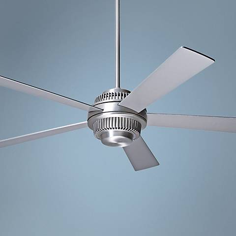 "52"" Modern Fan Solus Brushed Aluminum Ceiling Fan"