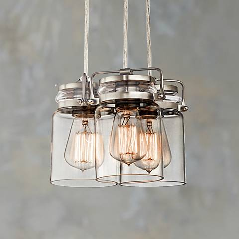 "Kichler Brinley 8 1/2"" Wide Brushed Nickel Mini Pendant"