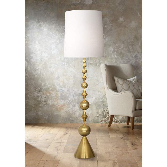 Harlequin Floor Lamp In Antique Br