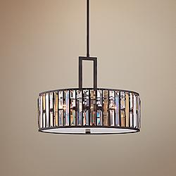 "Fredrick Ramond Gemma 21 1/4"" Wide Bronze Pendant Light"
