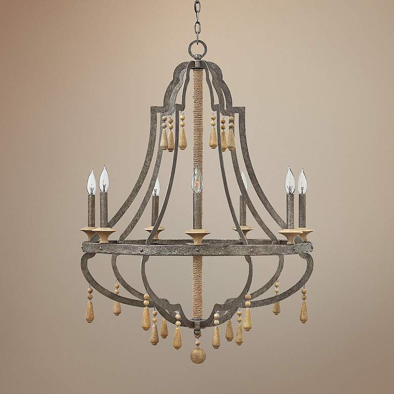 "Fredrick Ramond Cordoba 30"" Wide Distressed Iron Chandelier"