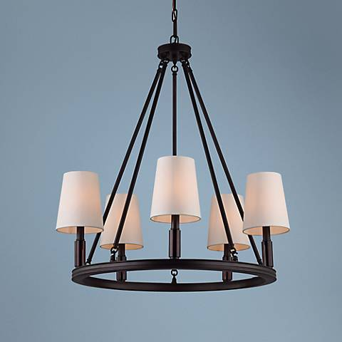 "Feiss Lismore 28 1/4"" Wide Oil-Rubbed Bronze Chandelier"