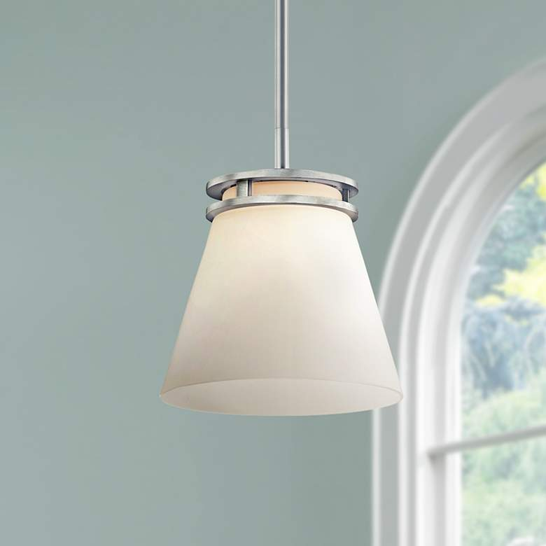 "Kichler Hendrick 8"" Wide Brushed Nickel Mini Pendant"
