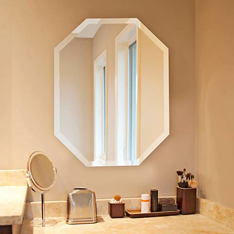 "Howard Elliott Octagonal 22"" x 28"" Wall Mirror"