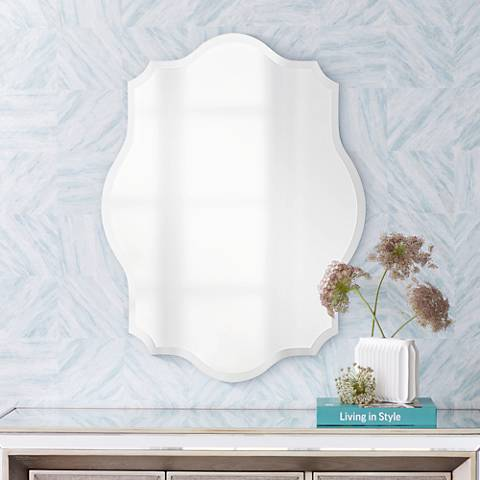 "Howard Elliott Oval Ornate 24"" x 32"" Wall Mirror"