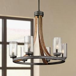 "Grand Bank 25"" Wide Wood Chandelier by Kichler"