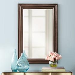 "George Oil-Rubbed Bronze 24"" x 36"" Vanity Wall Mirror"