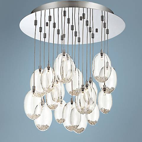 "Eurofase Hezelton 19 1/2""W Chrome 19-Light Multi Pendant"