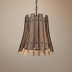 "Eurofase Panello 11 3/4"" Wide 1-Light Wood Mini Pendant"