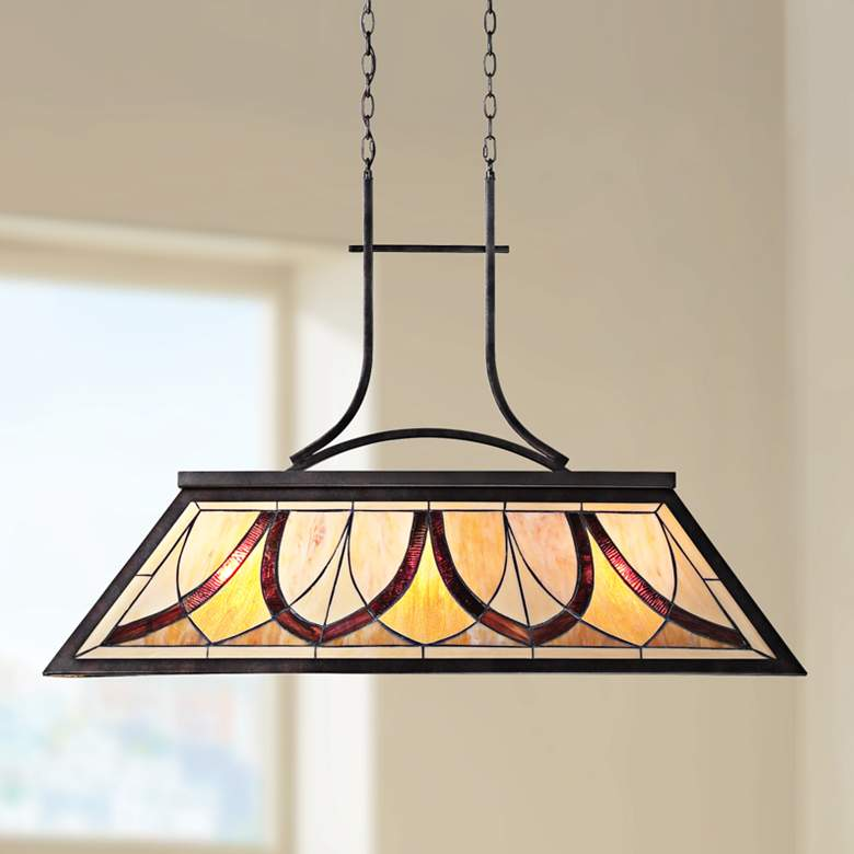 "Asheville 29"" High Old Bronze Kitchen Island Light Pendant"