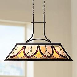 "Quoizel Asheville 29"" High Old Bronze Island Pendant"