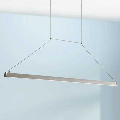 "Elan Linule 41"" Wide Brushed Nickel Island LED Pendant"