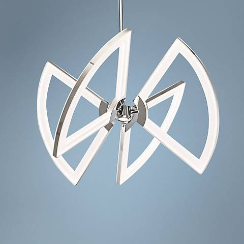 "Elan Cykel 24 3/4"" Wide Chrome LED Chandelier"