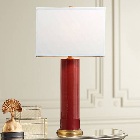 Melrose Ruby Porcelain Table Lamp
