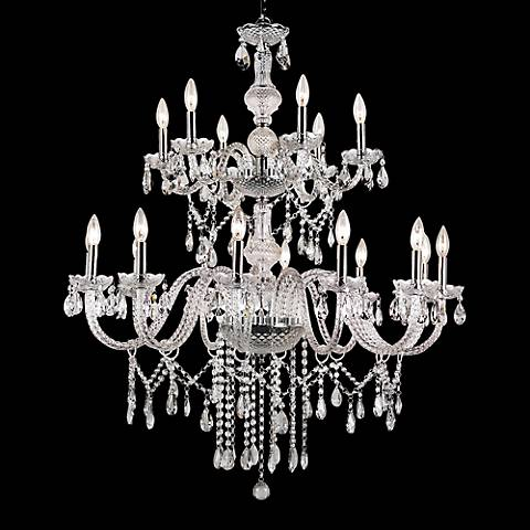 "Brindisi 37"" Wide Polished Chrome 18-Light Chandelier"